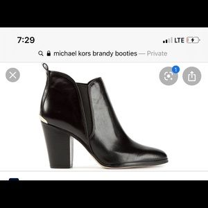 Michael by Michael kors leather brandy booties